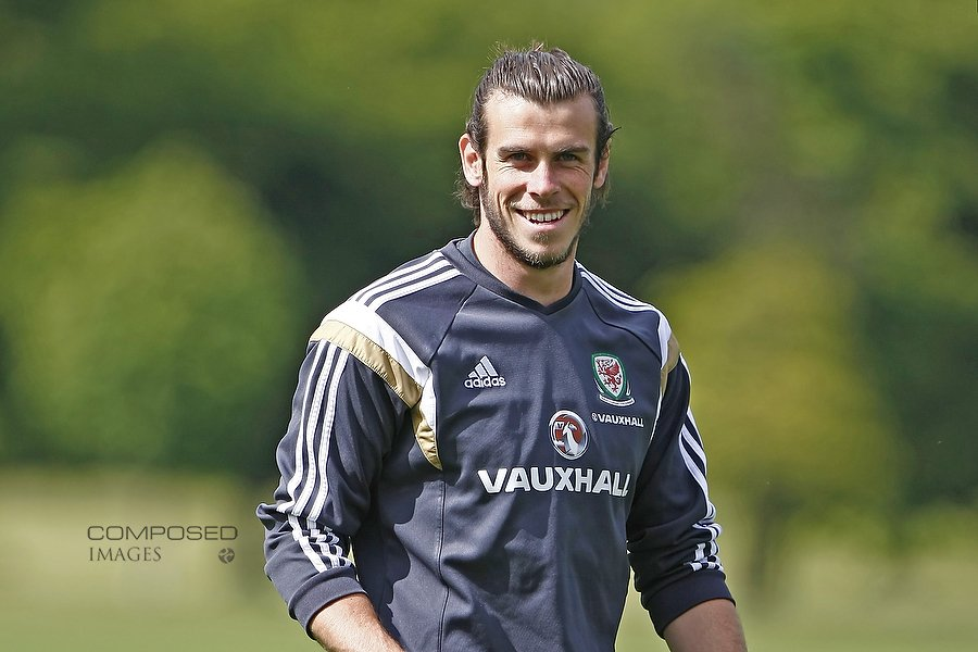 Gareth Bale during Wales national team training at the Vale Resort, Hensol, south Wales, ahead of the UEFA Euro 2016 qualification match against Belgium. Picture by Mark Hawkins / Composed Images, 07949023795, 08/06/2015.