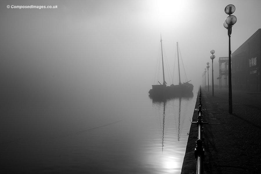 Freezing Fog Over Atlantic Wharf In Cardiff